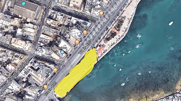 Approximately half the Gżira promenade and half the public benches will be lost to make way for the construction of a new and bigger bridge.