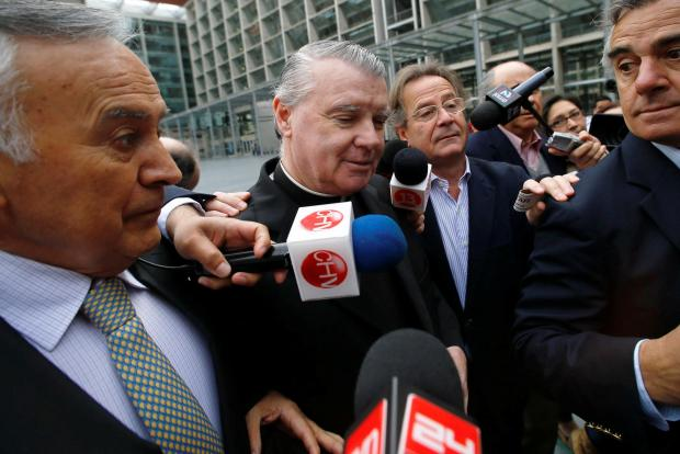 Irish-born Chilean priest John O'Reilly of the Legionaries of Christ conservative Roman Catholic order arrives at a court in Santiago. Reuters file photo