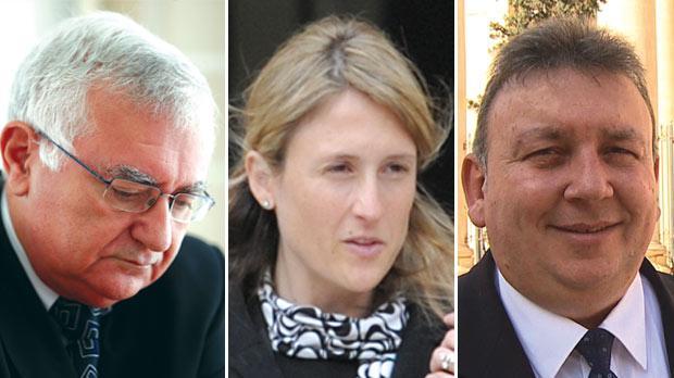 John Dalli, Gayle Kimberly and Silvio Zammit.