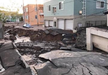 A devastated street in Sapporo (DamianBusuttil/Facebook).