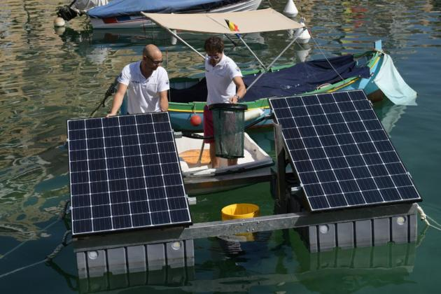 Europe's first solar-powered seabin is cleaning up Spinola Bay