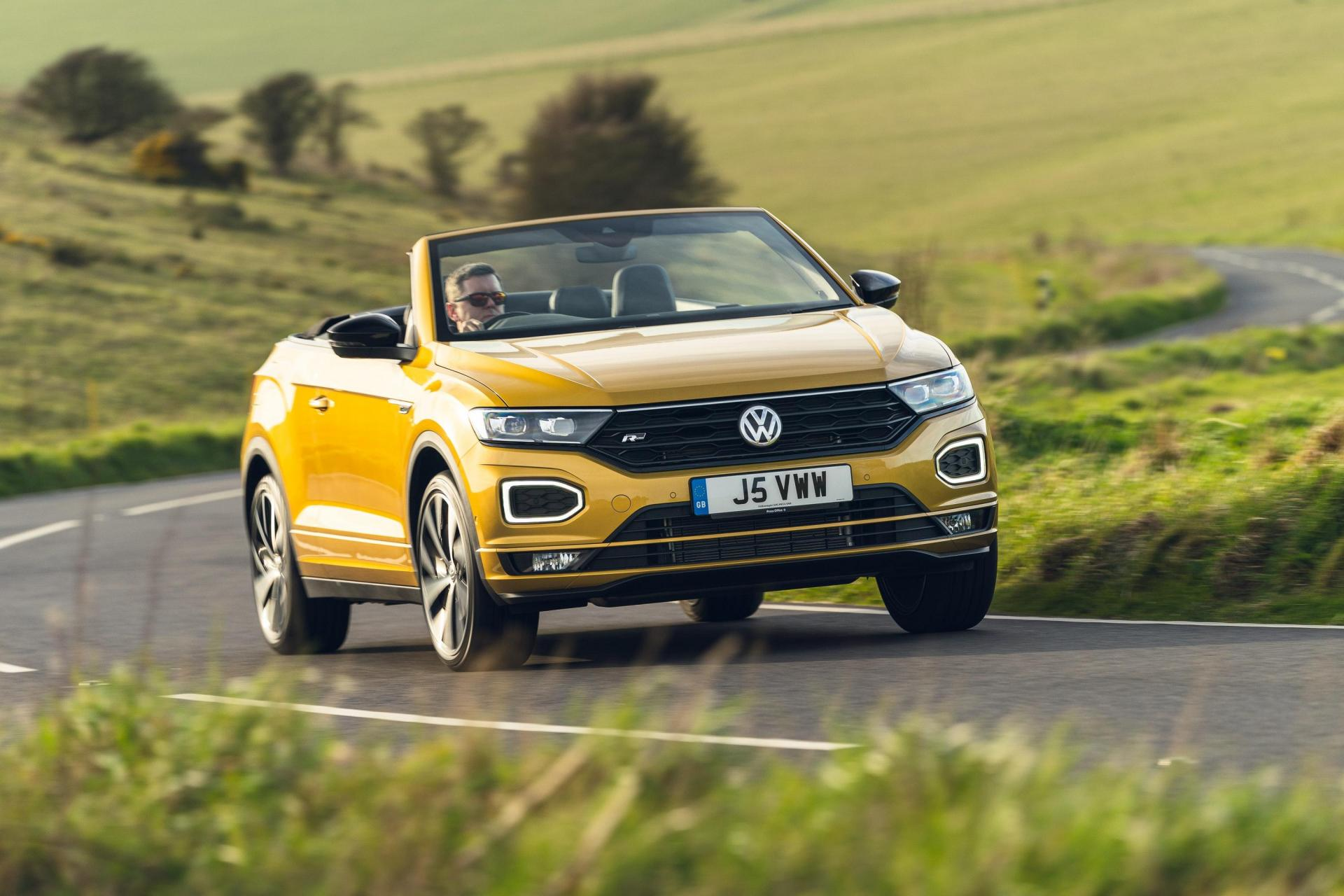 There's a little bit of bodyroll when cornering the T-Roc Cabriolet.