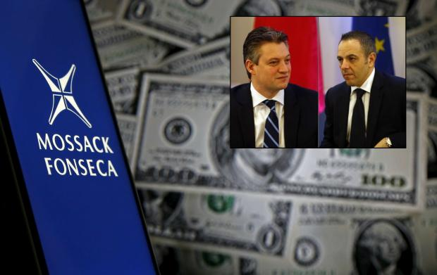 Konrad Mizzi and Keith Schembri (inset) were both revealed to have secret offshore structures created through the offices of Mossack Fonseca.