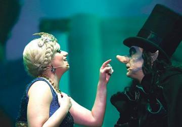 Audrey Scerri (Queen of Kitchnik) and Michael Mangion (The Child Catcher).