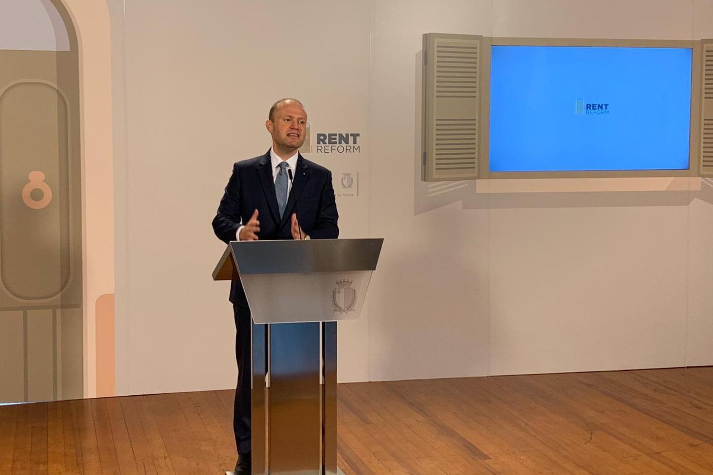 Joseph Muscat addressing Wednesday's press conference. Photo: Ivan Martin