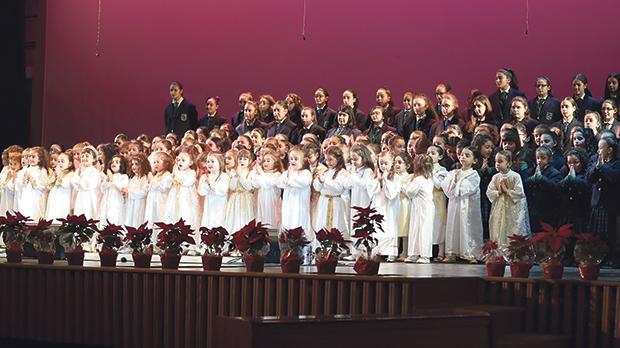Students and pupils of Mater Boni Consilii St Joseph School, Paola, performing during the concert.