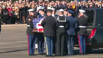 Former President Bush returned to Washington for state funeral