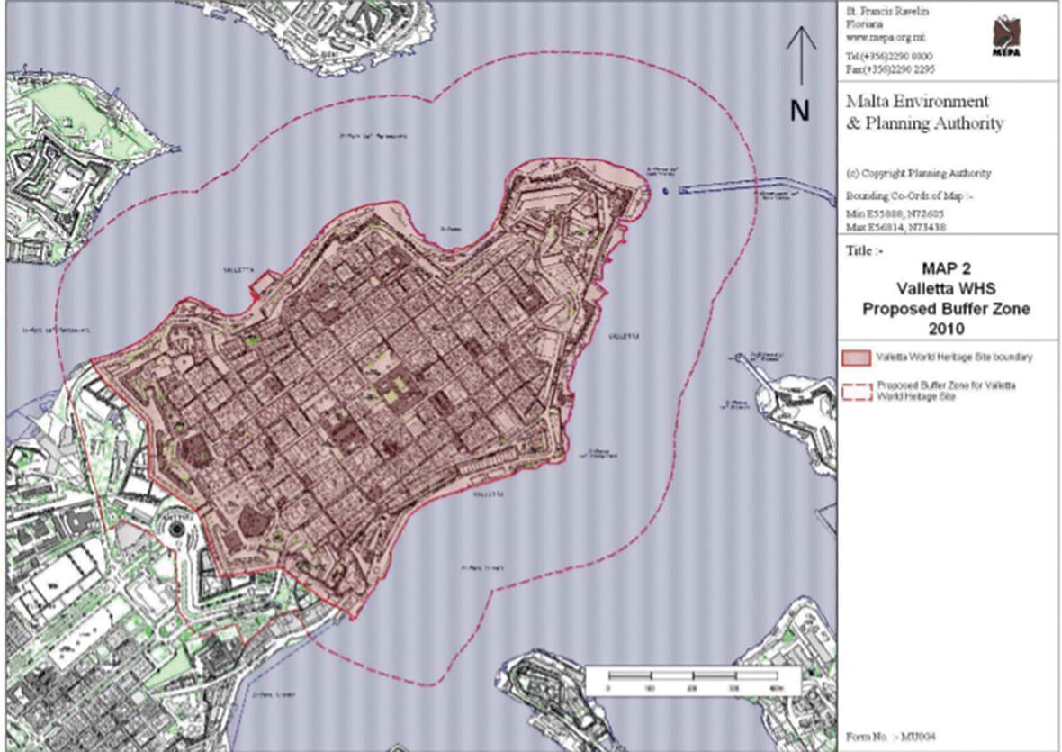Valletta World Heritage Site proposed buffer zone