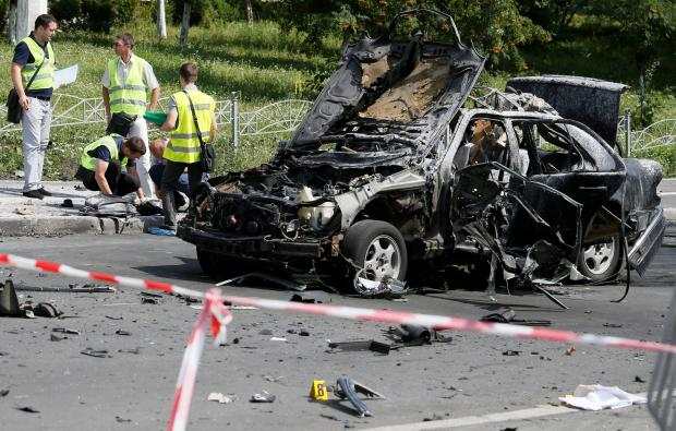 Ukraine serviceman killed in Kiev car blast