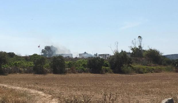 Part of the fireworks factory appears destroyed following the blast. Photo: Matthew Mirabelli