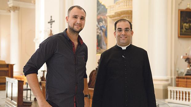 Painter Manuel Farrugia and Fr Marc André Camilleri