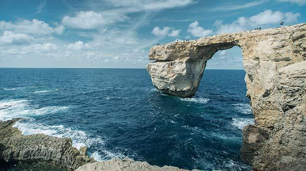 An expert has warned that vibrations from explosives suspected to have been used at the Inland Sea in Dwejra could have an effect on the Azure Window. Photos: Marlon George