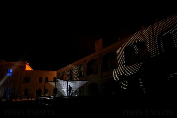 Architect musician Takami Nakamoto of NONOTAK Studio of Paris performs inside Fort Saint Elmo during Notte Bianca celebrations in Valletta on October 1. Photo: Darrin Zammit Lupi