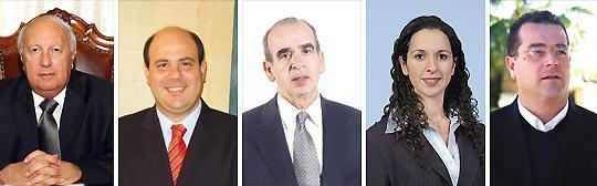 From left: Speaker Anton Tabone, Robert Tabone, Antoine Mifsud Bonnici, Paula Mifsud Bonnici, Beppe Fenech Adami.