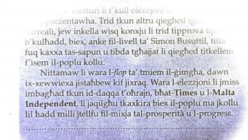 The editorial in l-orizzont.