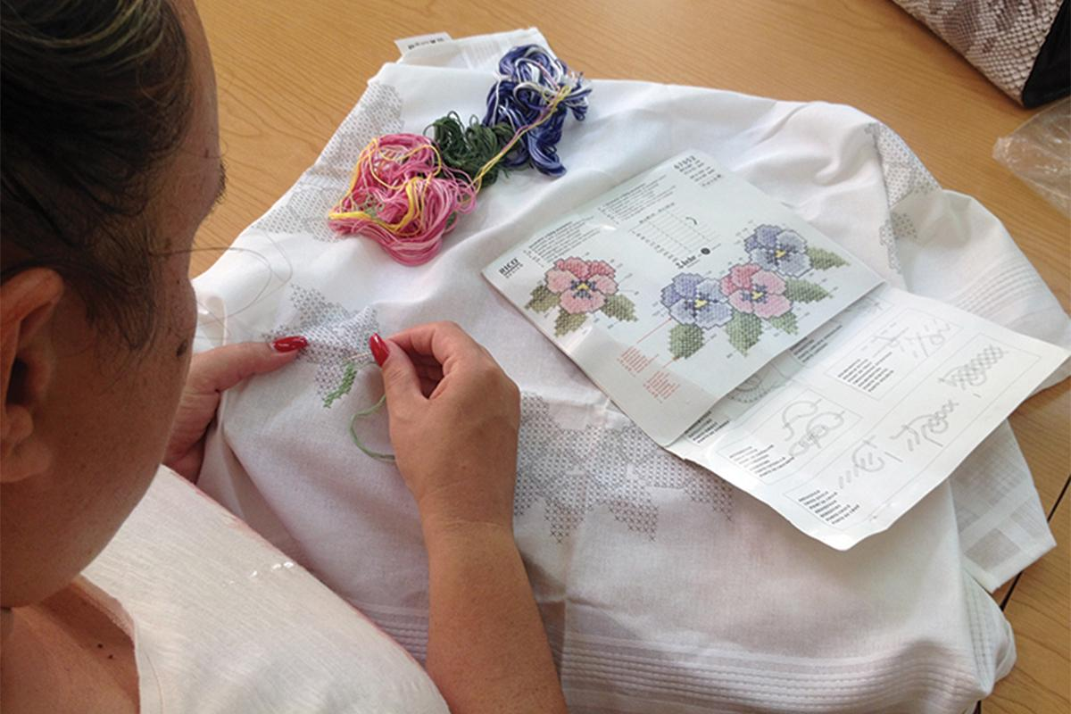 The Malta Society of Arts also hosts embroidery courses.