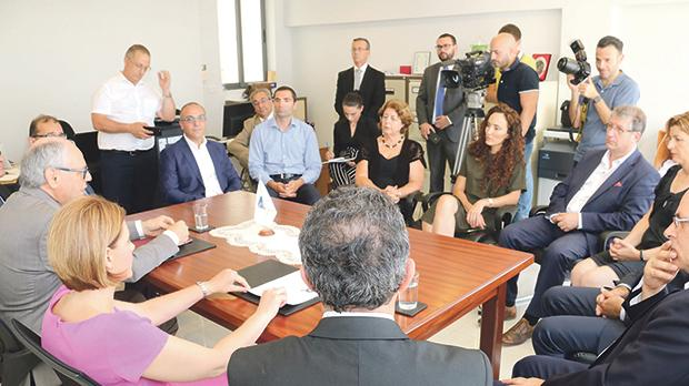 Gozo Minister Justyne Caruana and Finance Minister Edward Scicluna launching the new scheme. Photos: Charles Spiteri