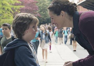Julia Roberts gives Jacob Tremblay all the support he needs in Wonder.