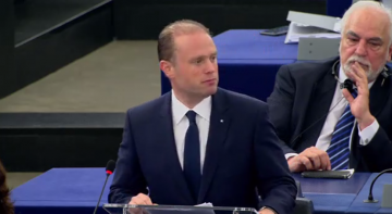 Muscat addressing the EP.