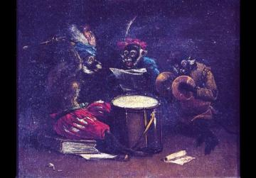 Monkeys' Band, in the style of David Teniers. Courtesy of Palazzo Falson, Mdina