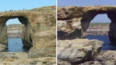 The 'Azure window@ after the latest major collapse in 2012.