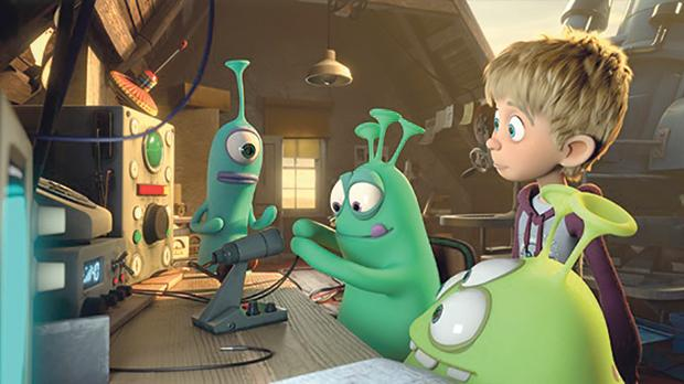 A boy has an out of this world adventure in Luis and the Aliens.