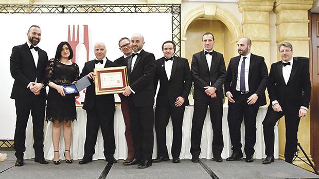 Alberto Bafumi, M'Grace Borg, Reno Spiteri, Lorenzo Scian, Marvin Schembri with the Top Chef Award, Christopher Spiteri, Jeffrey Chetcuti, Alfio Maria Zappala and Peter Van Der Kreeft.