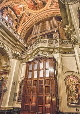 The organ at St Augustine's church. Photo: Reuben Chircop