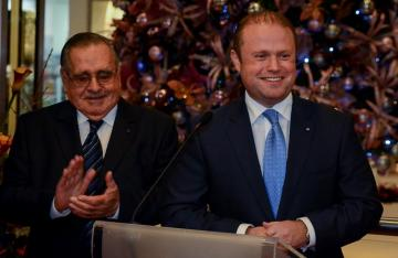 Prime Minister Joseph Muscat inaugurating the anniversary celebration at Plaza.