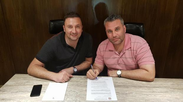 Darren Abdilla (right) has resigned as coach of Gżira United.