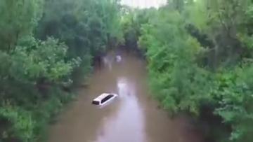 Drone video shows widespread flooding across South Carolina