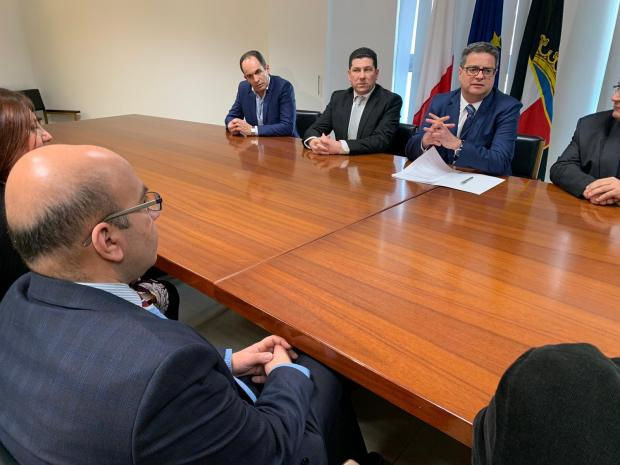 Malta Union of Teachers President Marco Bonnici met with Nationalist Party leader Adrian Delia on Monday.