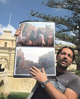 Malcolm Ellul on his Game of Thrones tour in Mdina