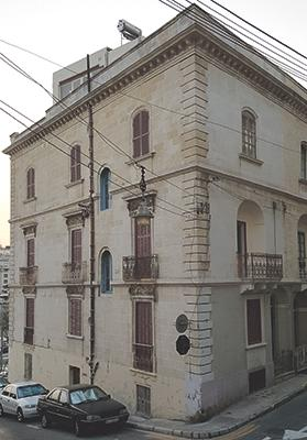 The façade of the house in St Joseph Street, Senglea, that Frost used as a stepping stone for her excavations in the Mediterranean. She kept her equipment and met up with colleagues there.