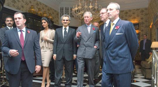 Prince Charles with Prince Alaweed Bin Talal (fourth from left) and wife Amira as  sc 1 st  Times of Malta & Londonu0027s Savoy Hotel reopens after major refurbishment