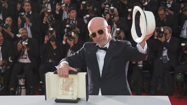 Director Jacques Audiard, Palme d'Or award winner for his film Dheepan, posing after the closing ceremony of the 68th Cannes Film Festival in southern France. Photo: Yves Herman/Reuters