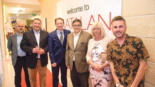 Andre Camilleri, Joseph Camilleri, Damian Hopkins, Anthony Camilleri, Anne-Marie Silcock, head of Central Planning, Matalan – UK, and Aaron Hickton, Lead VM manager, Matalan – UK.
