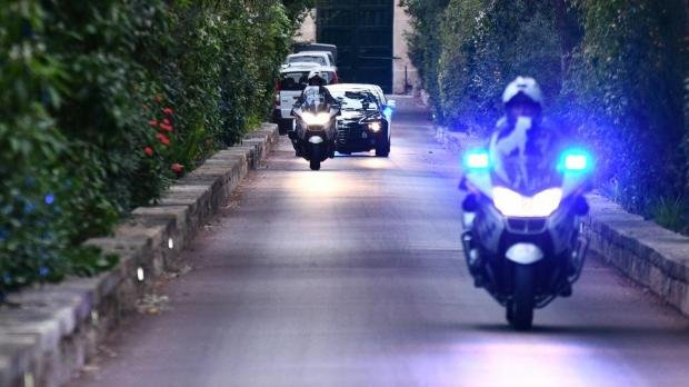 The Prime Minister exits the Presidential Palace at San Anton. Photo: Jonathan Borg