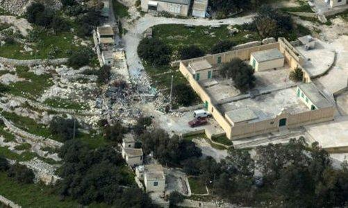 The devastation of a section of St Sebastian fireworks factory as shown in an aerial picture in The Times today.