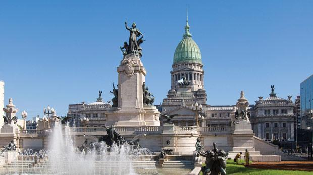 The Congress building in Buenos Aires.