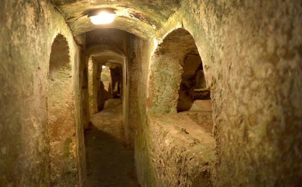 One of the catacombs forming part of the St Paul's Catacombs Complex in Rabat is opened to the public on October 2 after a new Interpretation centre was built and the complex renovated. Photo: Matthew Mirabelli