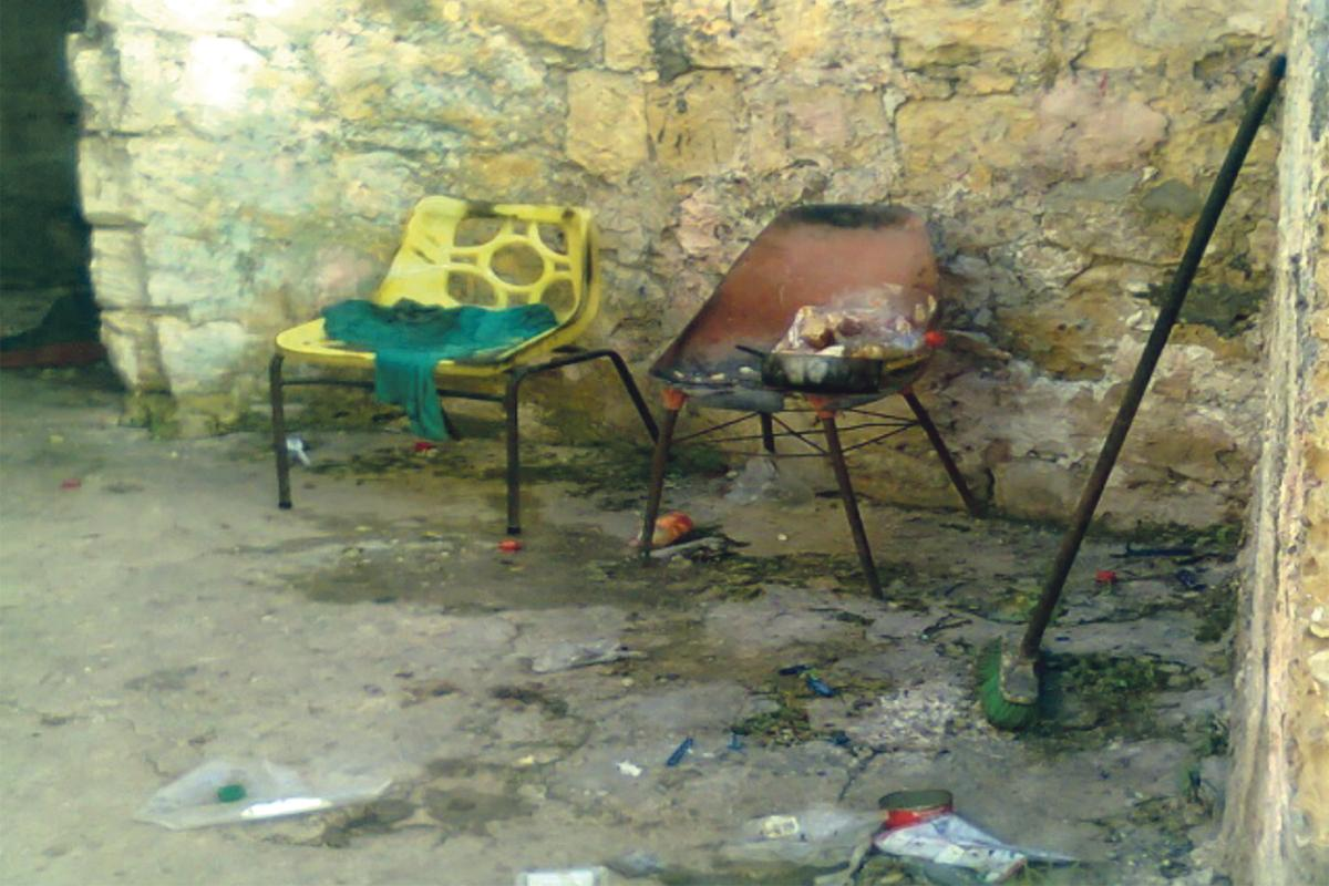 The state of Gianna's house before volunteers intervened to help. Photo: St Jeanne Antide Foundation