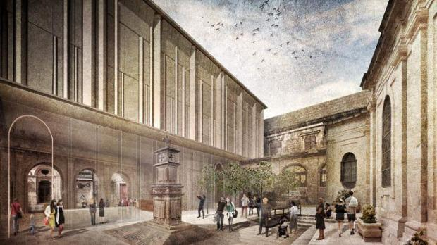 An artist's impression of the exterior of the proposed extension.