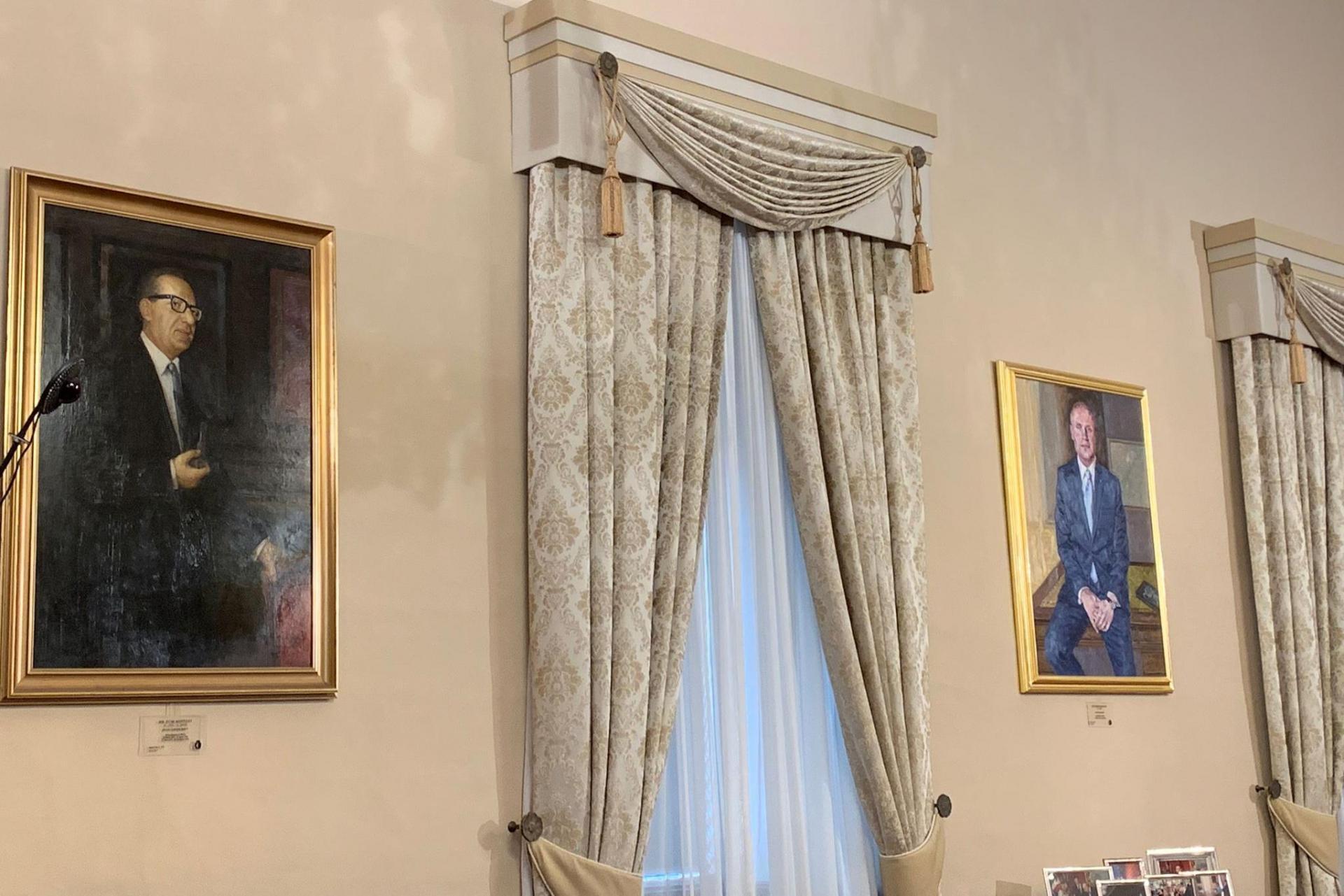 Joseph Muscat's portrait faces that of former Labour leader Dom Mintoff. Photo: Ivan Martin