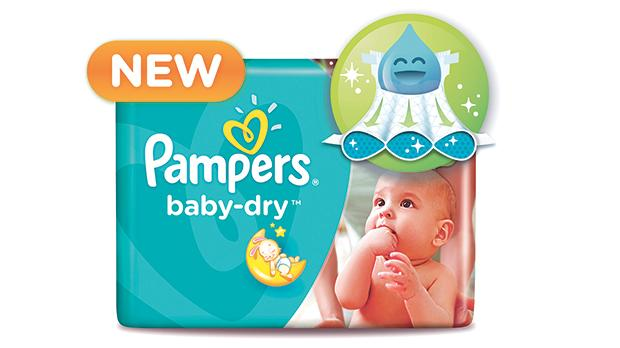 New Baby Dry Pampers