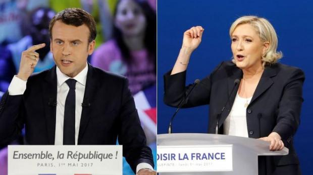 Le Pen and Macron hold rallies amid nationwide May Day marches