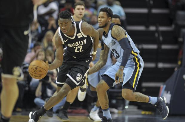 Brooklyn Nets guard Caris LeVert (22) brings the ball up court against Memphis Grizzlies guard Ben McLemore (23) during the second half at FedExForum. Brooklyn Nets defeats the Memphis Grizzlies 99-88. Photo: Justin Ford-USA TODAY Sports