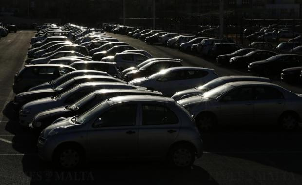 Rows of parked cars are seen in Floriana on November 10. Photo: Darrin Zammit Lupi