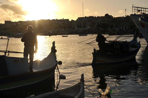 A fisherman leaves his berth on a fishing trip at Marsaxlokk on January 14. Photo: Chris Sant Fournier