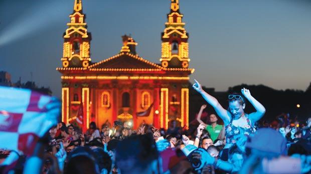 Festival-goers at the Isle of MTV last week. Photo: Darrin Zammit Lupi